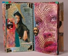 Jeanne Minnix - Visual journals - such a great idea - ongoing summer project wit. - Jeanne Minnix – Visual journals – such a great idea – ongoing summer project with K. A Level Art Sketchbook, Sketchbook Layout, Arte Sketchbook, Sketchbook Inspiration, Kunst Inspo, Art Inspo, Art Sketches, Art Drawings, Kunst Portfolio