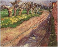 Read about the painting  Road with Pollard Willows by Vincent van Gogh