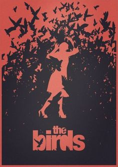 Alfred Hitchcock, The Birds minimalist movie poster / movie time ...