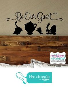 Beauty and the Beast Be Our Guest Quote Vinyl Wall Decal Sticker Lettering Playroom Art Room Nursery Silhouettes Disney quote from Modern Vector http://www.amazon.com/dp/B01A9ENXQE/ref=hnd_sw_r_pi_awdo_5x8Swb1SSTTSX #handmadeatamazon