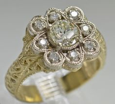 14k Gold and Diamond Ring 2897