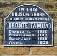 The Bronte Birthplace in Thornton, near Bradford, West Yorkshire, is where the Bronte sisters were born and lived before moving to Haworth Emily Bronte, Charlotte Bronte, Yorkshire England, West Yorkshire, Yorkshire Dales, Bronte Sisters, Wuthering Heights, Book Lovers, Book Worms