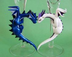 Fimo Dragon Flutes Close Up by DragonsAndBeastie. Polymer Clay Dragon, Polymer Clay Animals, Fimo Clay, Polymer Clay Projects, Polymer Clay Creations, Polymer Clay Art, Cute Clay, Clay Figurine, Sculpture Clay