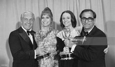 Mary Tyler Moore with Valerie Harper, Ted Knight, and Jay Sandrich
