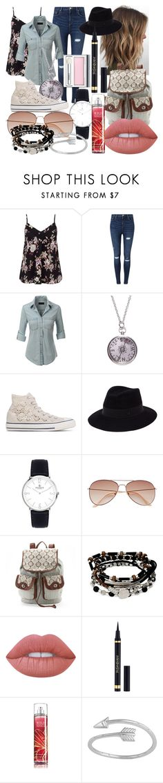"""Where the Winds May Take Me"" by maralf-1 on Polyvore featuring Miss Selfridge, LE3NO, We Are All Smith, Converse, Maison Michel, H&M, Kenneth Cole, Lime Crime, Yves Saint Laurent and Clinique"