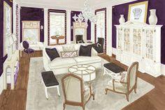 Mansion in May 2014  Maria K. Bevill Interior Design Rendering by DesignAnts LLC