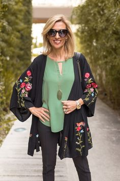 LAST CHANCE to save on our brand new Black and White Embroidered Kimono Jackets styled with our Jade Top with Scalloped Sleeves and a matching necklace - ALL PART OF OUR 24-HR FLASH SALE . Get 15% off all featured items with code FS328 plus Free US Shipping www.jacketsociety.com