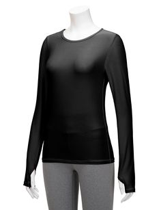 5108155b2eb4a Regna X RE-Order Bother Women s Long Sleeve Stretchy Thumb holes Active Top  (S-3X