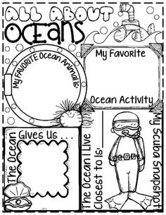 """***If you already own my, """"An Ocean Commotion: Math, Science and Literacy Unit,"""" do not buy this poster. It is available as a part of the unit or in this listing by itself. Kids love to share what they know in a creative way. This is a great cumulative activity to show what your kids have learned while studying the Ocean Habitat."""