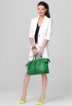 New Arrivals! @Milly by Michelle Smith handbag in blue pink and green at Halls Plaza