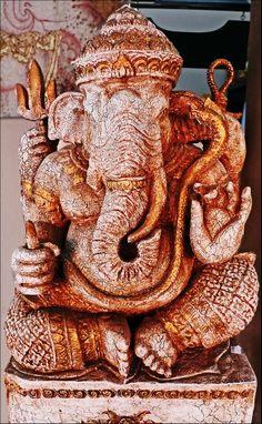 Wood carved Ganesha