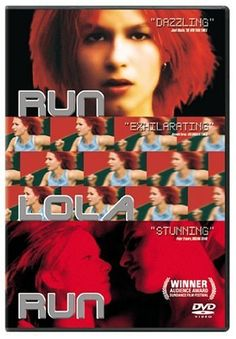 Run Lola Run (Lola rennt). I just love this movie! So clever. Really one that thinks outside the box.
