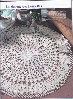 Wow this is really pretty, doily with diagram
