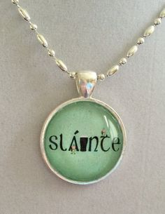 Irish Slainte Necklace by joytoyou41 on Etsy, $20.00