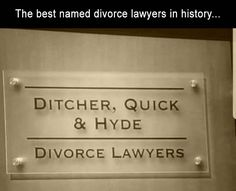 The best named divorce lawyers in history funny memes meme humor funny memes funny images meme images humor images meme image divorce memes Haha Funny, Funny Cute, Funny Stuff, Funny Shit, Stupid Stuff, Funny Today, Funny Sarcasm, All Meme, Pokemon