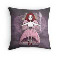 Quirky Pinkness Angel—Cushion