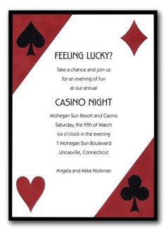 Poker party invitation diy printable party invitation 4x6 or 5x7 more information stopboris Images