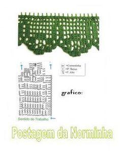 OFICINA DO BARRADO: Croche - Cores Natalinas em Barras ...Free Diagram Pattern