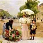 I fiori e Louis Marie de Schryver All'età di 17 anni, ha vinto la medaglia di bronzo alla Fiera Mondiale di Sydney per la sua pittura dal titolo Lilas (Lillà). Nel 1886 rivolse la sua attenzione alla vita quotidiana di Parigi e comin #belleépoque #deschryver #fiori