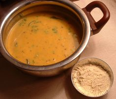 Chickpea soup by one