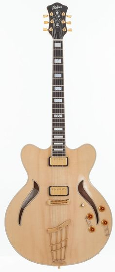 2000's Hofner Verythin Classic Natural Semi-Hollow - body Electric Guitar