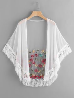 Search for Kimono at ROMWE. Girls Fashion Clothes, Teen Fashion Outfits, Trendy Outfits, Fashion Dresses, Kimono Outfit, Kimono Fashion, Boho Fashion, Fashion Design, Pakistani Fashion Casual