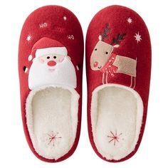 Women's Shoes, Slippers, Animal Slippers Christmas Reindeer – Red – … Soft Slippers, Cute Slippers, Baby Slippers, Felted Slippers, Crocheted Slippers, Bedroom Slippers, Birthday Gifts For Boyfriend Diy, Expecting Mom Gifts, Shoes