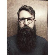 beautiful full long thick black dark beard beards bearded man men glasses natural length bearding epic handsome #beardsforever