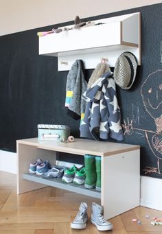 Garderoben   Kindergarderobe Und Schuhbank   Ein Designerstück Von Weluschu  Bei DaWanda