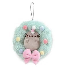 Pusheen Wreath Ornament Now in Stock (Tween Girls GUND is proud to present Pusheen - a chubby gray tabby cat that loves cuddles, snacks, and dress-up. Add a little Pusheen cheer to Christmas trees and holiday décor with this Pusheen Christmas, Christmas Cats, Christmas Ornaments, Pink Christmas, Christmas Trees, Pusheen Cat Plush, Pusheen Pillow, Pusheen Toys, Stuffed Animal Cat