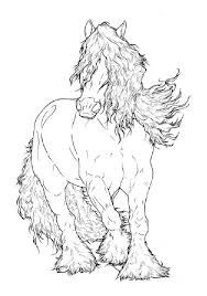 Gypsy Vanner LineArt by ReQuay on DeviantArt Horse Coloring Pages, Colouring Pages, Adult Coloring Pages, Coloring Books, Horse Drawings, Animal Drawings, Art Drawings, Clydesdale Horses, Friesian Horse
