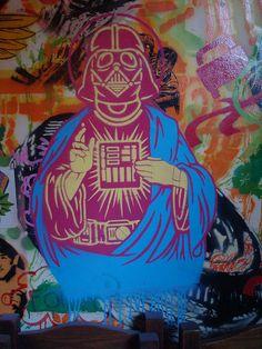 """""""Sacred Heart of Vader"""". Darth Vader graffiti art"""
