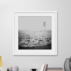 Black and White nature prints are set to become one of the big interior design art trends for 2016 and beyond. This stunning ocean print is one our favourites.