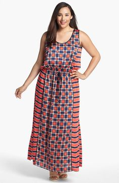 MICHAEL Michael Kors 'Soho Square' Sleeveless Maxi Dress (Plus Size) available at #Nordstrom
