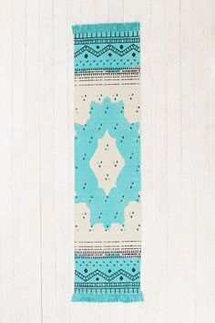 Magical Thinking Mirrored Medallion Handmade Runner in Teal- Urban Outfitters