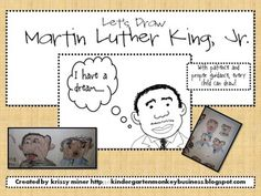 FREE Martin Luther King Directed Drawing - Mrs. Miner's Monkey Business - TeachersPayTeachers.com