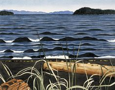 One of the interesting things about Ed Hughes is the deal he cut with his dealer in The dealer was Max Stern of Montreal's Dominion Gallery. Ed lived in a bungalow on the west coast of Canada. Small Paintings, Landscape Paintings, New Jaguar, Group Of Seven, Of Montreal, Japanese Prints, Canadian Artists, West Coast, Art Museum