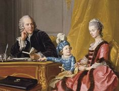 History of fashion in art & photo (1767 Louis-Michel van Loo - The Devin Family)