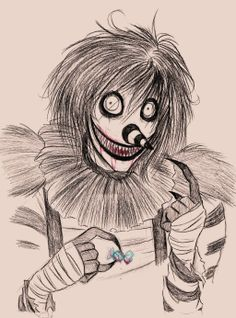 Laughing Jack-this is super creepy but I had to repin because this artist is skilled :)