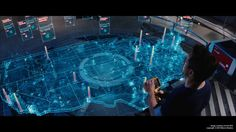 More suits, more extreme effects - how the VFX studios behind Iron Man 3 made the film possible. Hologram Technology, Technology World, Futuristic Technology, Technology Gadgets, Gui Interface, Interface Design, Cowboys & Aliens, Techno Gadgets, Web Design