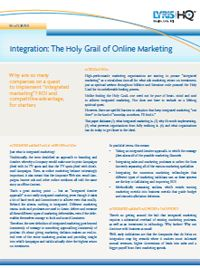 Free White Paper: How to Effectively Integrate Social Media and Online Marketing