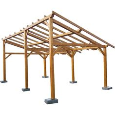 Auvent bois / 21,70 m²