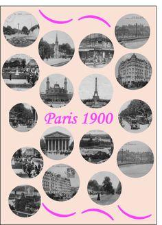 Carte Paris en 1900 pour envoyer par La Poste, sur Merci-Facteur !