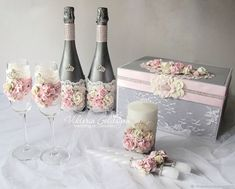 """Купить Свадебный набор """"Серебряная роза"""" (повтор) в интернет магазине на Ярмарке Мастеров"""