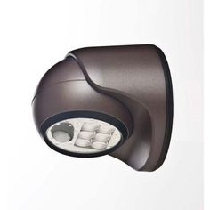 6 In. Bronze Led Wireless Motion-activated Weatherproof Porch-light