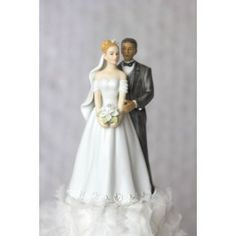 All My Love Interracial Wedding Cake Toppers