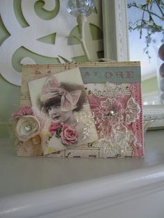 Shabby Chic Card  Card for Young Girl  Baby Girl by AvantCarde, $6.25