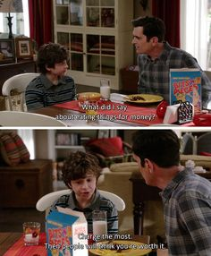 Modern Family love this show Modern Family Luke, Modern Family Memes, Tv Quotes, Movie Quotes, Best Tv Shows, Favorite Tv Shows, Phil Dunphy Quotes, Internal Monologue, The Mindy Project