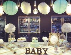 """36 Likes, 1 Comments - Treasure Box UAE (@treasureboxuae) on Instagram: """"Mint green and gold themed baby shower…"""""""