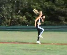 High Knee Skip & Bound - YouTube Softball Pitching, High Knees, Running, Ariel, Rugby, People, Youtube, Keep Running, Why I Run